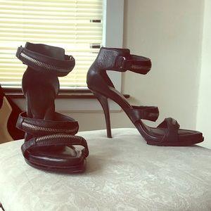Alexander Wang Kyla Black Zipper Heels